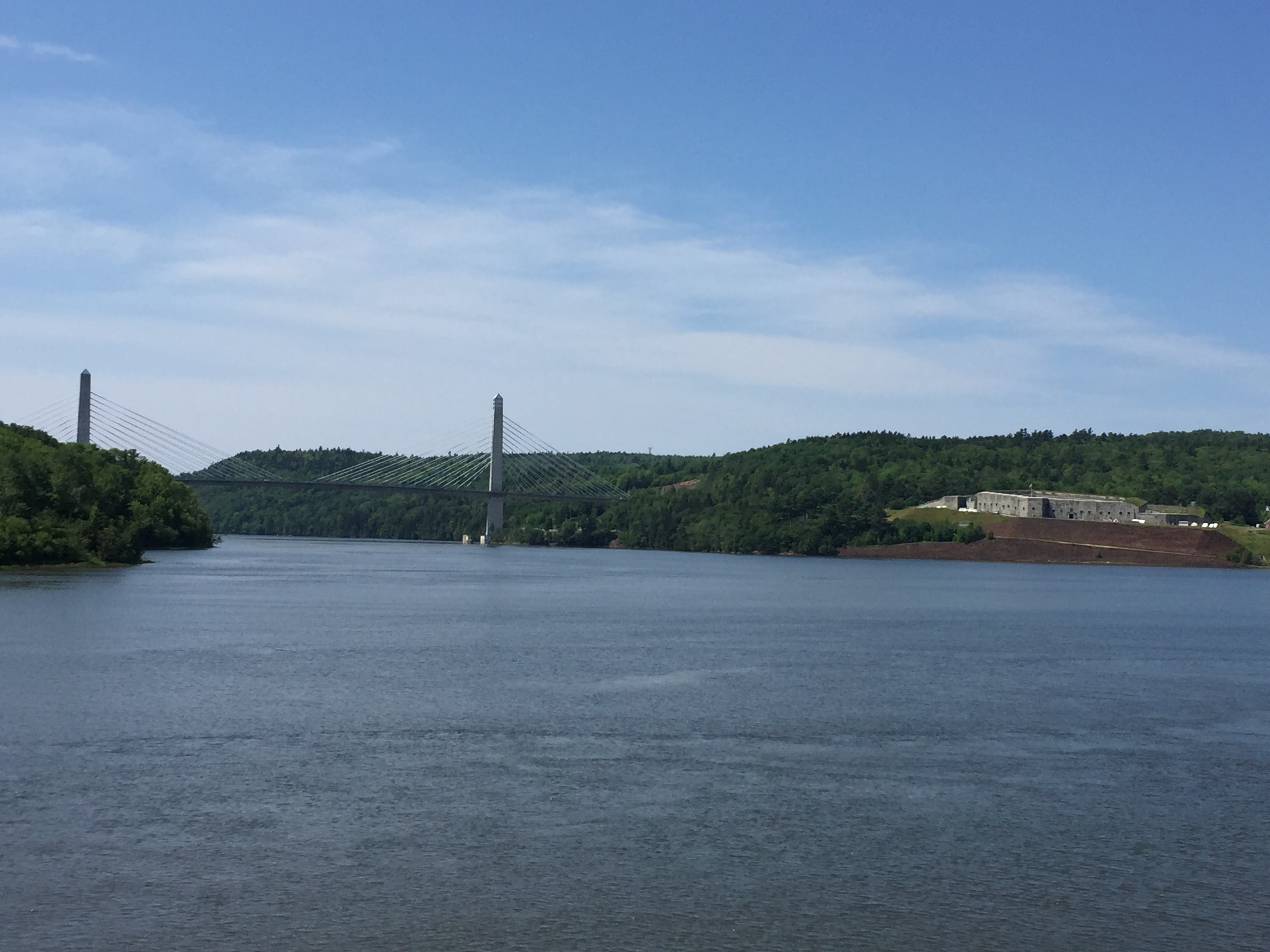 2017-07-22 Bucksport 02 - Bridge and Fort