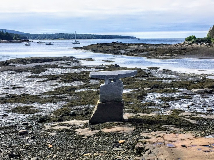 2017-07-25 Scoodic - Winter Harbor Whale Tail Sculpture 01